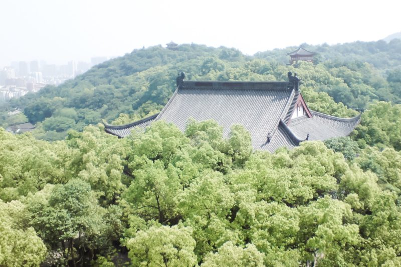 View from the top of Wushan Temple