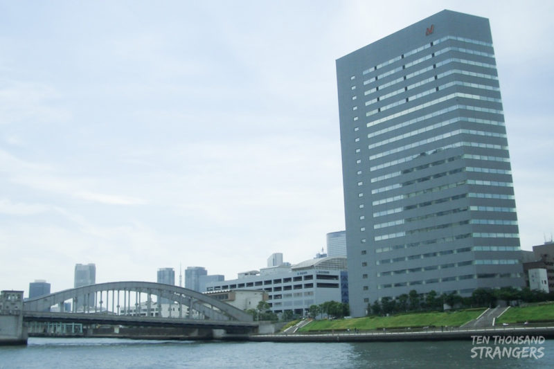 Buildings and bridges along Sumida River, Tokyo
