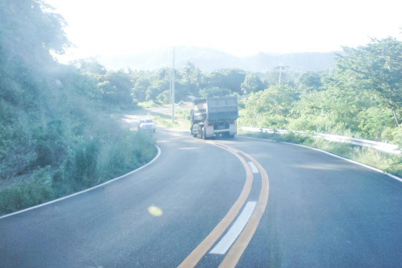 Zig-zag road to Brgy. Calayo and Hamilo Coast