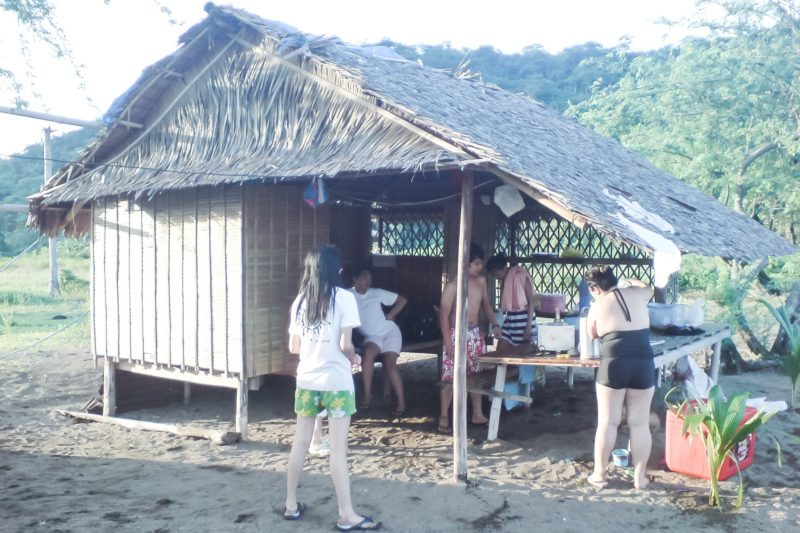 A small nipa hut for rent at Calayo beach