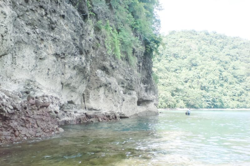 Rock wall leading to Calayong Munti
