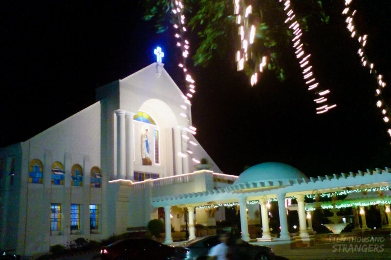Simbang Gabi at the Our Lady of Lourdes Church, Tagaytay City