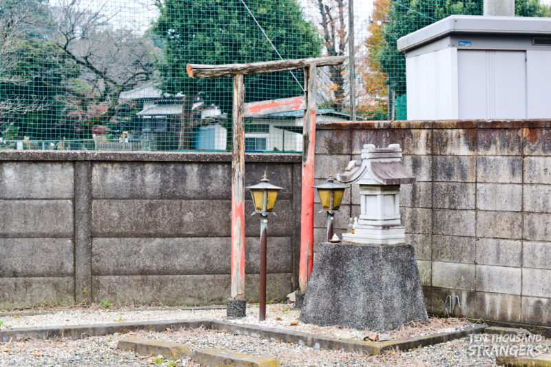 Small shrine on the road in Kawagoe