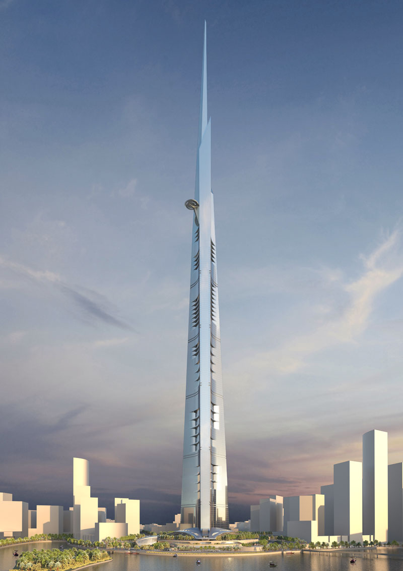 Architectural Rendering of Jeddah Tower