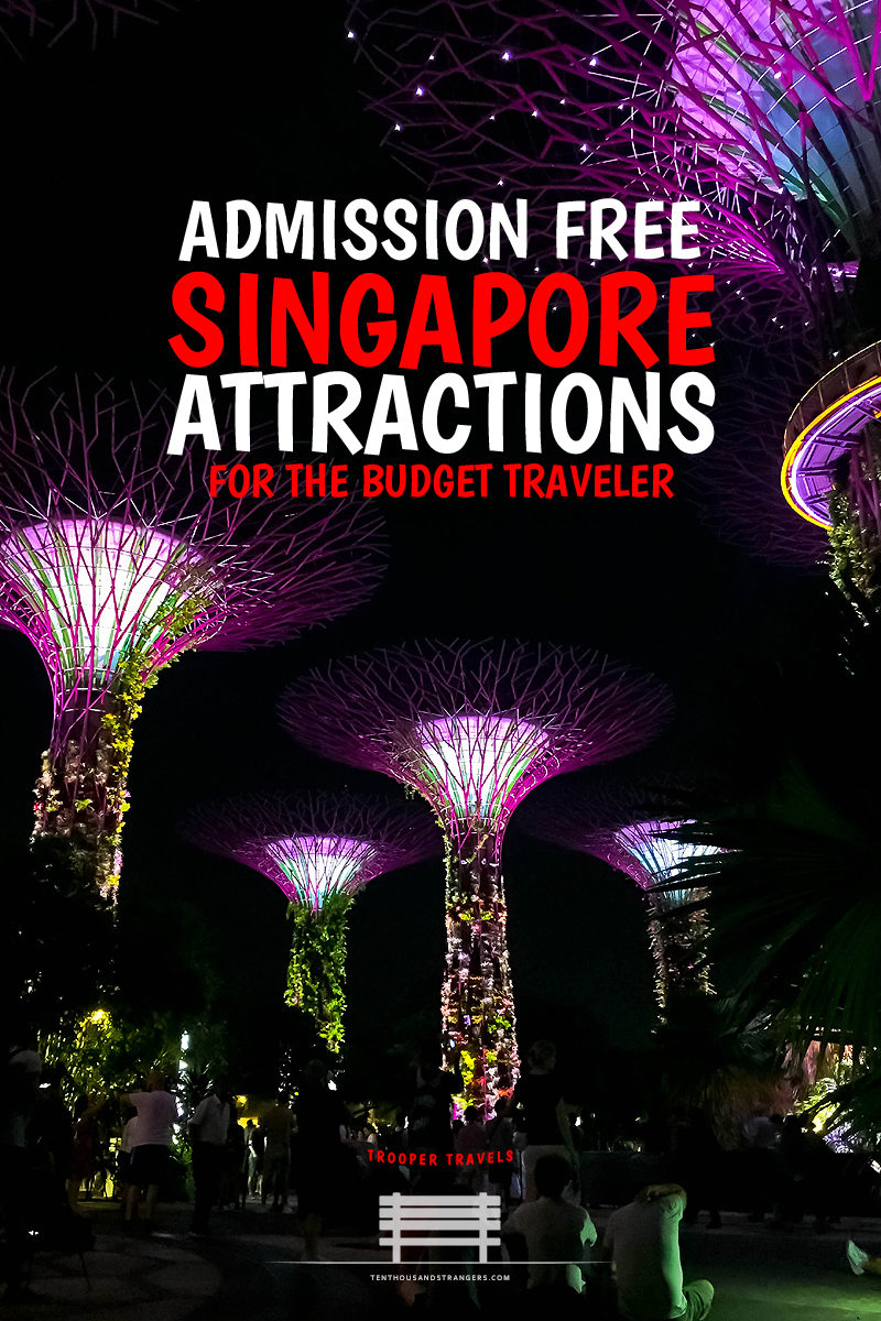 Free Singapore Attractions - Supertree Grove at Gardens by the Bay